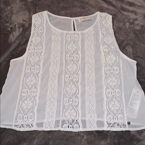 NWOT Abercrombie & Fitch lace tank top